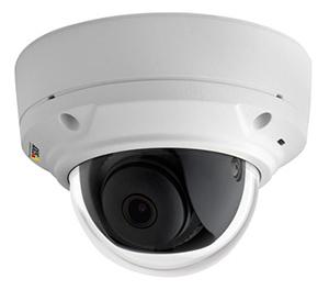 Уличная IP-камера наблюдения в антивандальном купольном корпусе